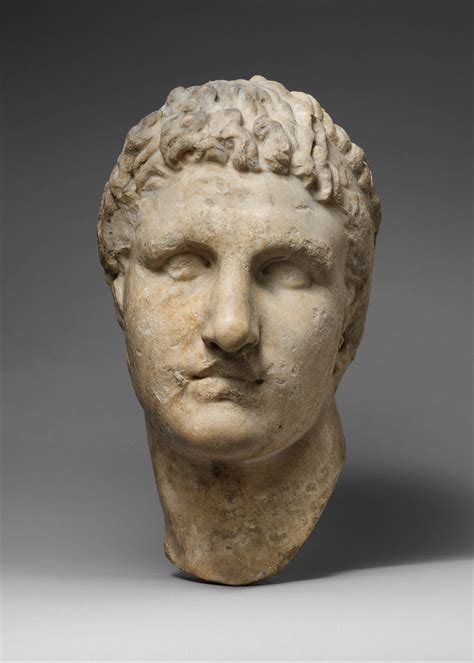 Marble head of a Hellenistic ruler | Roman | Imperial