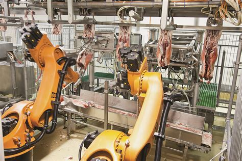 These robot butchers can carve 600 carcasses an hour