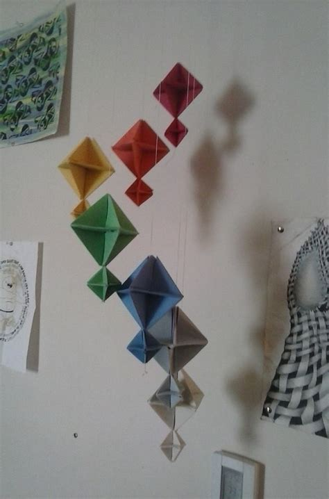 Rainbow Origami Mobile · An Origami Mobile · Art on Cut