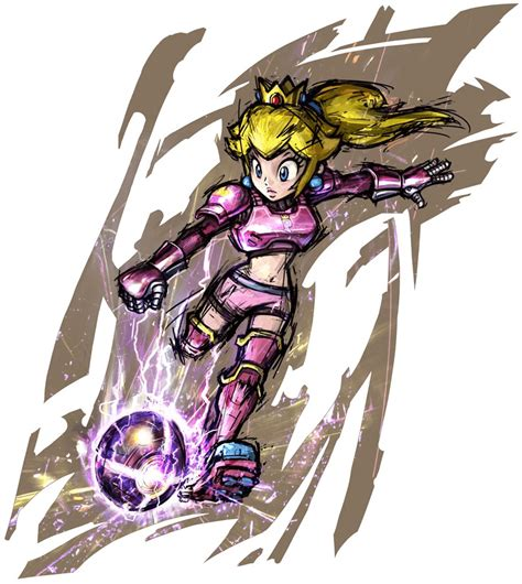 Mario Strikers Charged (Wii) Artwork including all