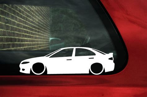 2x LOW Mazda 6 TS V6 MPS outline silhouette car stickers