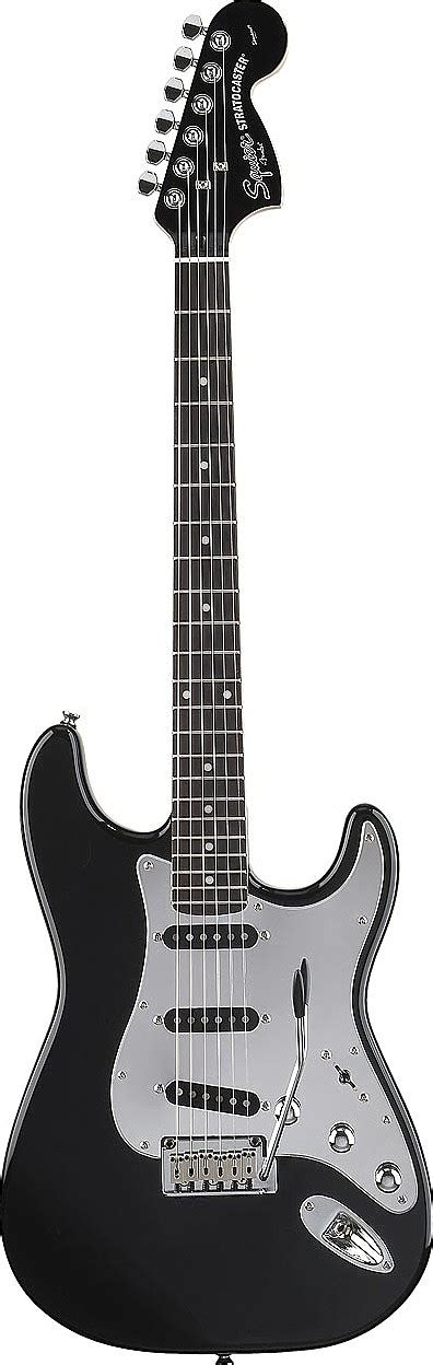 Squier by Fender Black and Chrome Special Edition Strat