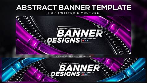 Cool Abstract Banner Template [YouTube & Twitter