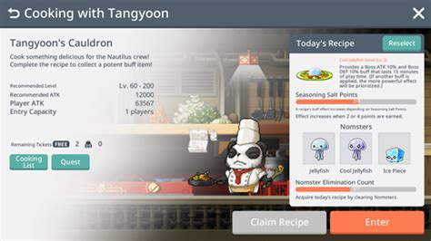 Cooking with Tangyoon   MapleStory M Wiki   FANDOM powered