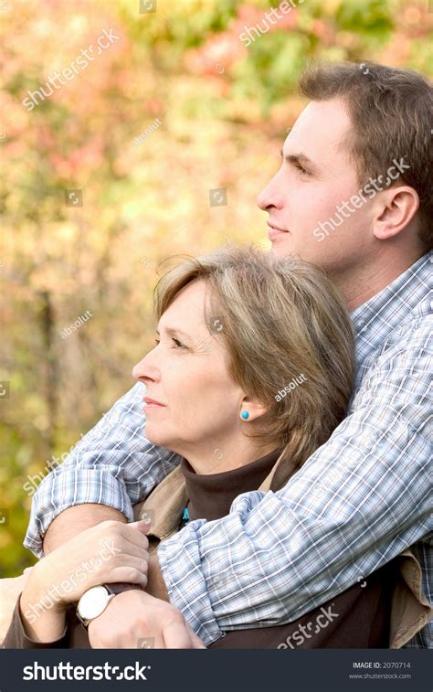 Adult Son Hugging His Mother Stock Photo 2070714