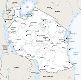 Free Vector Map of Tanzania Outline | One Stop Map
