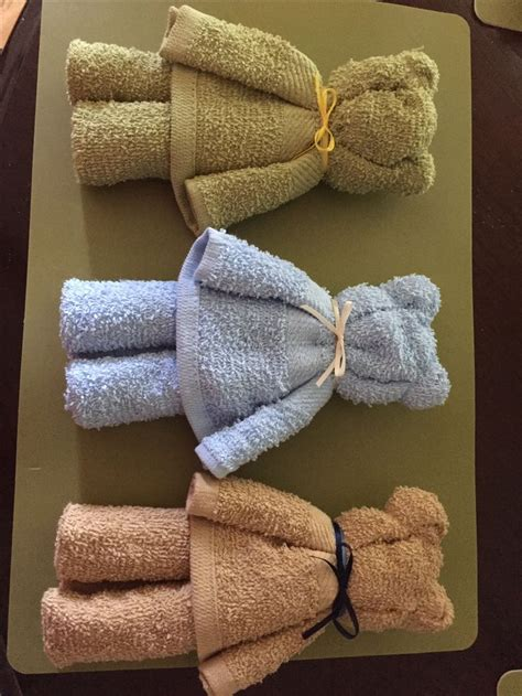 Bears made from dollar tree hand towels